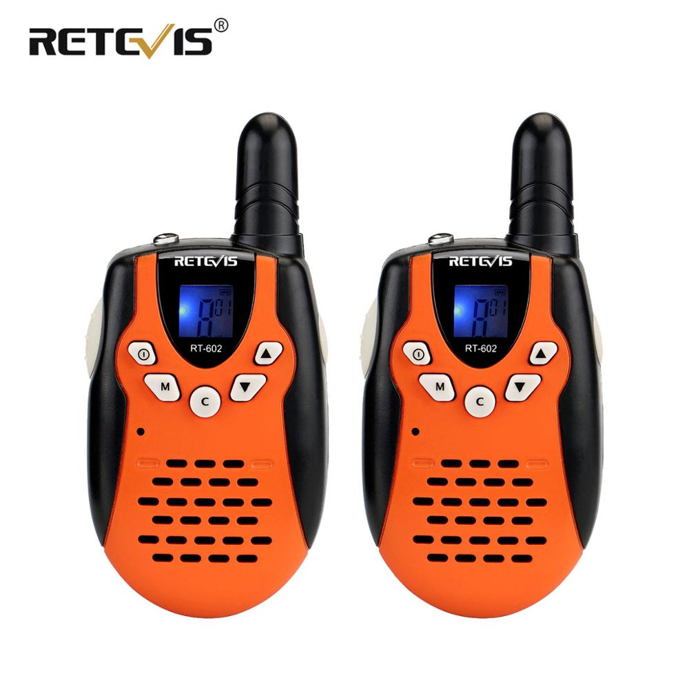 2 Pcs RETEVIS RT602 Children Walkie Talkie Rechargeable Mini Two-Way Radio PMR446 8CH 446MHz Flashlight Toys For Children Gift