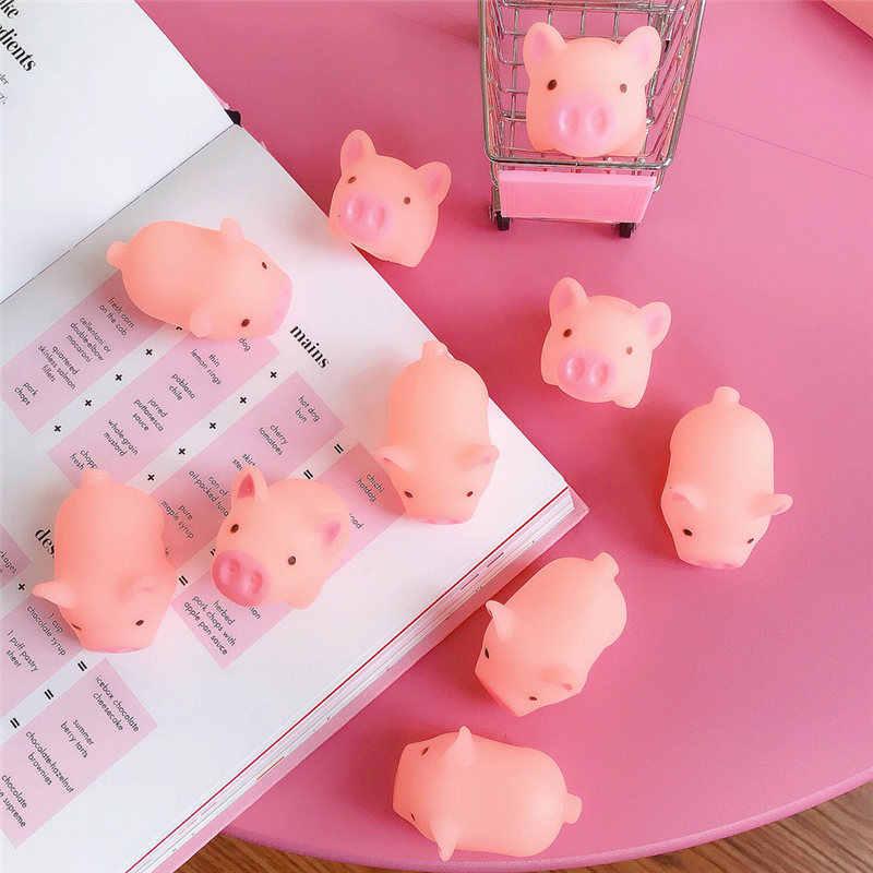 2 قطعة/الوحدة جديد لطيف الكلب اللعب الوردي الصراخ المطاط خنزير الحيوانات الأليفة اللعب صرير Squeaker مضغ هدية ديكورات المنزل القط لعبة لعبة
