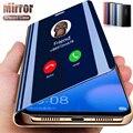 Умный зеркальный флип-чехол для Samsung Galaxy A12 A42 A51 A50 A71 S20 FE S8 S9 S10 Ultra Note 8 9 10 A70 M51 A30 A20e A21s A20, чехол