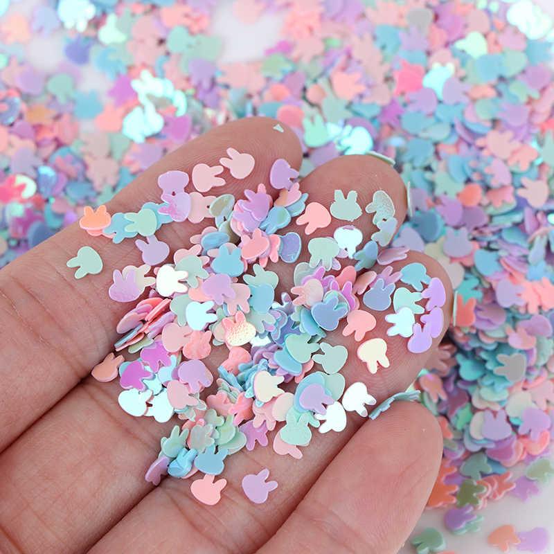 1 Tas Ultrathin 4 Mm Bentuk Kelinci Glitter Payet untuk Kerajinan Hewan Peliharaan Payet untuk Kuku Seni Manikur/Pernikahan Natal dekorasi Confetti