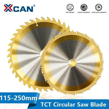XCAN Circular Saw Blade 115 160 185 210 250mm Titanium Coated Woodworking Cutting Disc TCT Carbide Tipped Saw Blade
