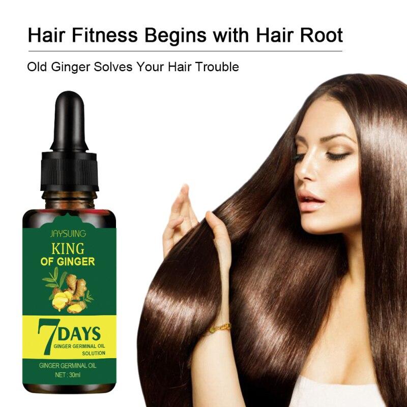Имбирная Сыворотка для роста волос, эфирное масло для предотвращения выпадения волос, жидкость для восстановления поврежденных волос, Прям...