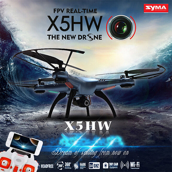 SYMA X5HW Wifi FPV Drone With 2.0MP HD Camera 360 Eversion CF Mode Hover Function RC Quadcopter