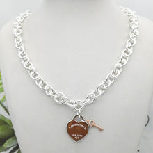 Женское ожерелье из серебра 925 пробы с подвеской в виде сердца