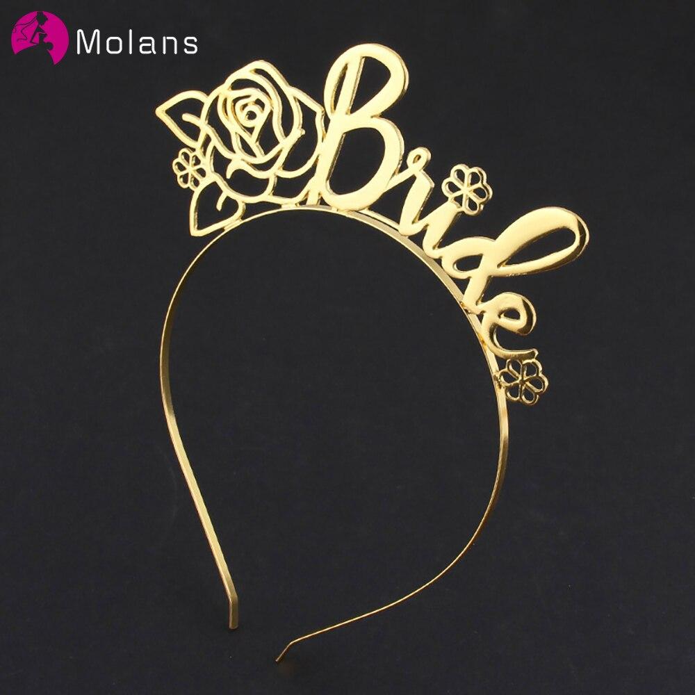 MOLANS Women Word Bride Headband Solid Color Hair Accessories Hair Bands Hoop Fashion Cute Wedding Headdress Headwear 2020 New