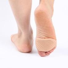Silikon Atmungs Vorfuß Big Toe Separator Komfortable Weiche Orthesen Unterstützung Vorderen Füße Pflege Verhindert Blasen Gel Pads