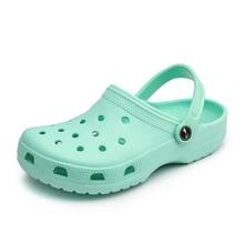 2020 Summer Ladies Beach Green Clogs Women Sandals Crocse Shoes Croc EVA Lightwe