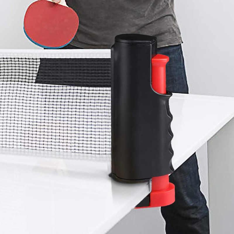 Filet de Ping-Pong portatif n'importe où support de filet de poteau de Ping-Pong rétractable pour n'importe quel entraînement de divertissement de famille de Table