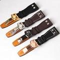 Натуральная кожа ремешок для часов 22 мм наручные часы ремешок для мужчин высокое качество коричневый черный Ремешки для наручных часов бра...