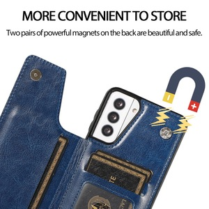 Image 4 - Retro PU Flip Leather Case For Samsung S21 A52 A51 A72 A71 A32 A12 A50 A70 S20 FE Note 20 Ultra S10 Plus Multi Card Holder Cases