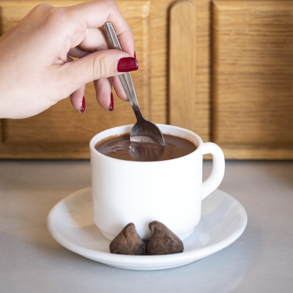 Lacase cocoa to Cup 90 seconds · 350g.