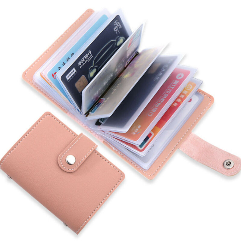 Women's 26 Cards Slim PU Leather ID Credit Card Holder Pasjeshouder Porte Carte