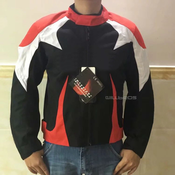 Motorcycle Jacket Protective Gear Motocross Moto Jacket Motorbike Racing Moto Men's Summer Breathable Jersey Karting clothing
