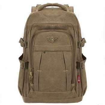 Der männer Militär Leinwand Rucksack Zipper Rucksäcke Laptop Reise Schulter Mochila Notebook Schulranzen Vintage College School Taschen