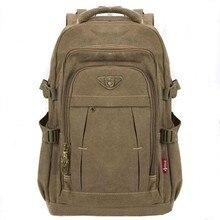 Erkek askeri keten sırt çantası fermuar sırt çantaları dizüstü seyahat omuz Mochila dizüstü okul çantaları Vintage koleji okul çantaları