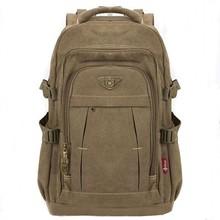 Mens Military Canvas Backpack Zipper Rucksacks Laptop Travel Shoulder Mochila Notebook Schoolbags Vintage College School Bags