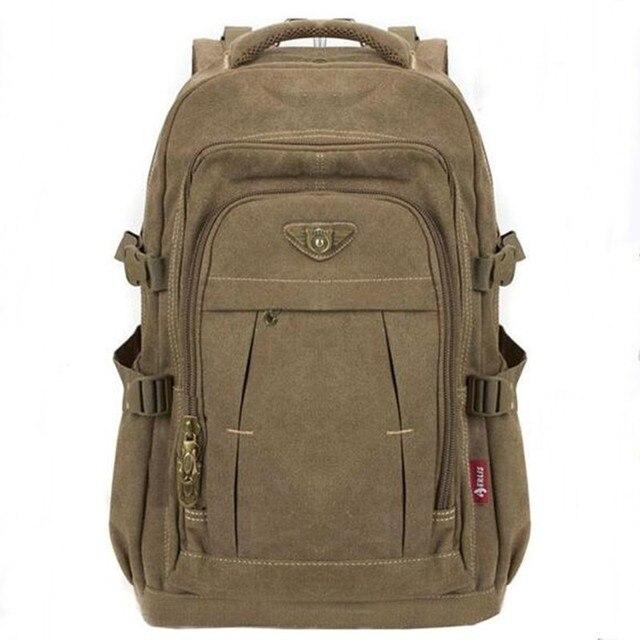 남자 군사 캔버스 배낭 지퍼 배낭 노트북 여행 어깨 Mochila 노트북 Schoolbags 빈티지 대학 학교 가방