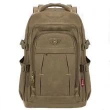 Canvas Backpack Mochila Rucksacks Notebook Schoolbags Laptop Travel-Shoulder Military