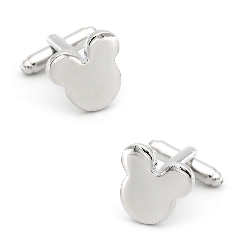 Mickey Cuff Links For Men Cartoon Mouse Design Quality Brass Material Silver Color Cufflinks Wholesale&retail