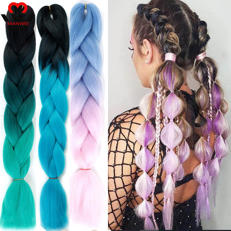 MANWEI New Jumbo Braid Hair Hair Extension 24