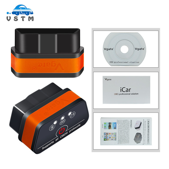 Vgate icar2 Bluetooth/Wifi OBD2 Diagnostic-tool ELM327 OBD 2 Scanner Mini ELM 327 icar 2 for android/PC/IOS OBDII Code Reader