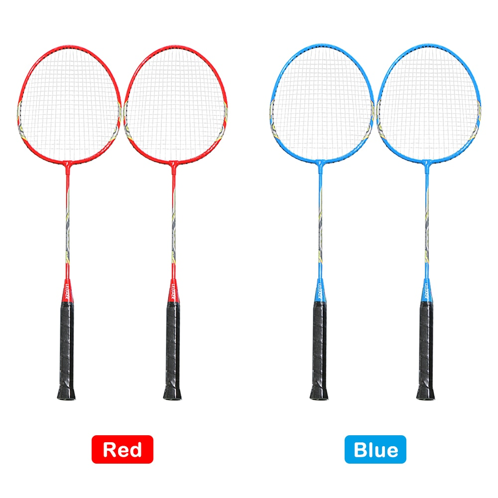 2 Player Badminton Racket Set Indoor Outdoor Sports Students Training Practice Badminton Racquet With Cover Bag