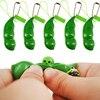 Rubber Boys Birthday Gift Cute Stress Squishy Squeeze Peas Beans Pop It Decompression Edamame Peanut Fidget Toys