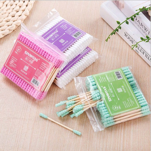 Ears Cleaning Cotton Disposable Swabs 100 pcs Set Accessories Disposables & Single-Use