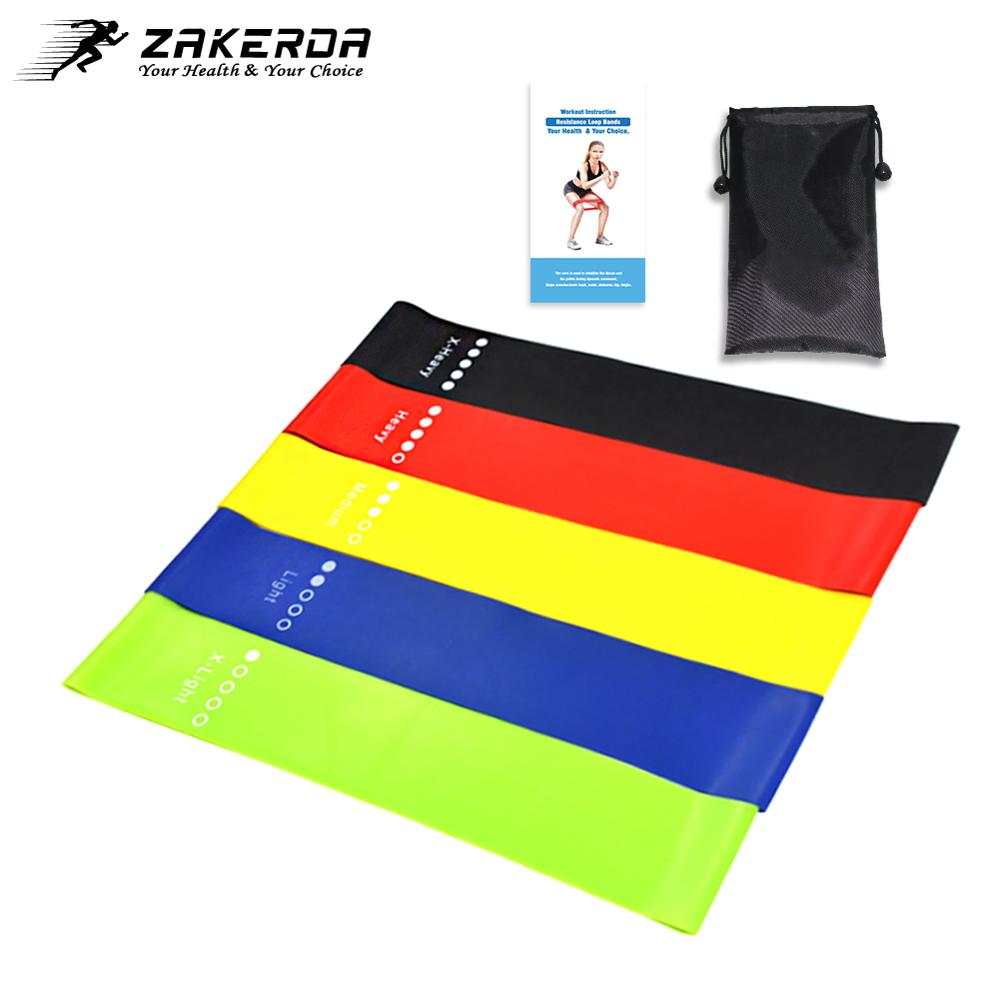 5PCS Elastic Bands For Fitness Yoga Resistance Bands Home Fitness Band Crossfit Stretching Strength Training Latex Workout Equip