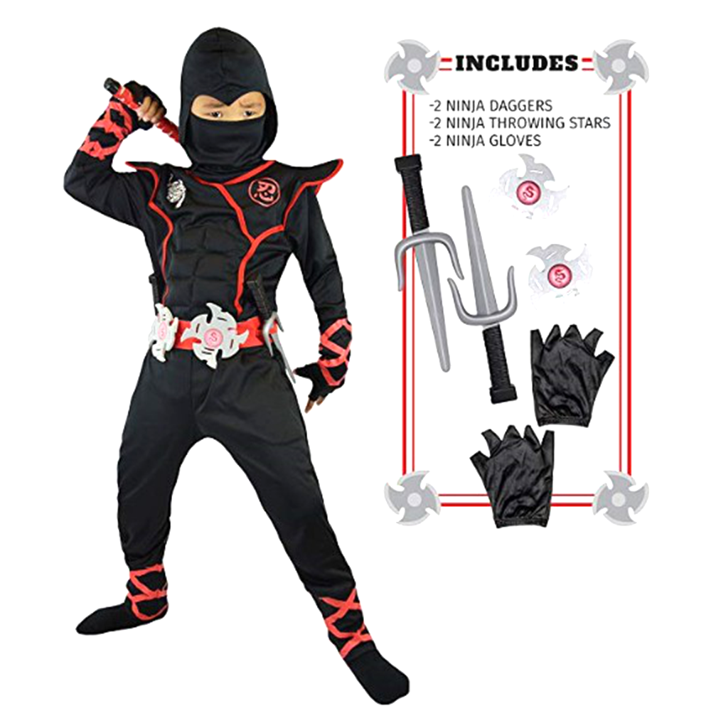 Ninja Costume Kids Ninjago Costumes Halloween Party Superhero Cosplay Boys Japanese Samurai Warrior Fancy Dress Power Ninja Suit