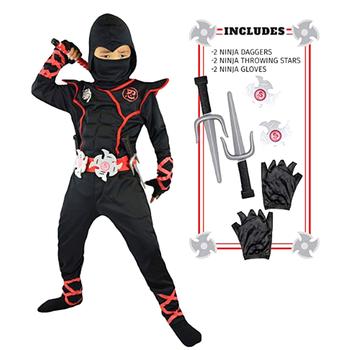 Ninja Costume Kids Ninjago Costumes Halloween Party Superhero Cosplay Boys Japanese Samurai Warrior Fancy Dress Power Suit