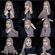 wholesale muslim women bubble Chiffon hijab scarf Islamic Headscarf plain shawls Arab head scarves malaysia foulard femme