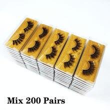 Atacado cílios 50/100/150/200 pçs 3d vison cílios beleza natural cílios pacote cílios postiços maquiagem cílios postiços no volume