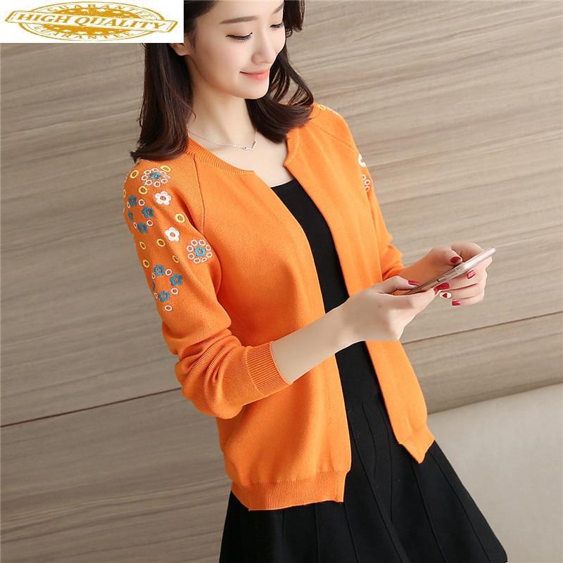 2020 New Knitted Cardigan Women Sweater Spring Autumn Black Cardigans Women Tops Chompas Para Mujer W-702487 KJ2379