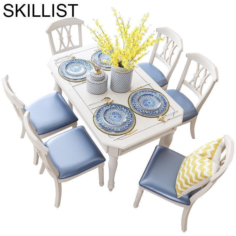 Masa Sandalye Tavolo Pliante Dinning Set Tisch Meja Makan Tafel Wooden Bureau Desk De Jantar Mesa Comedor Dining Room Table