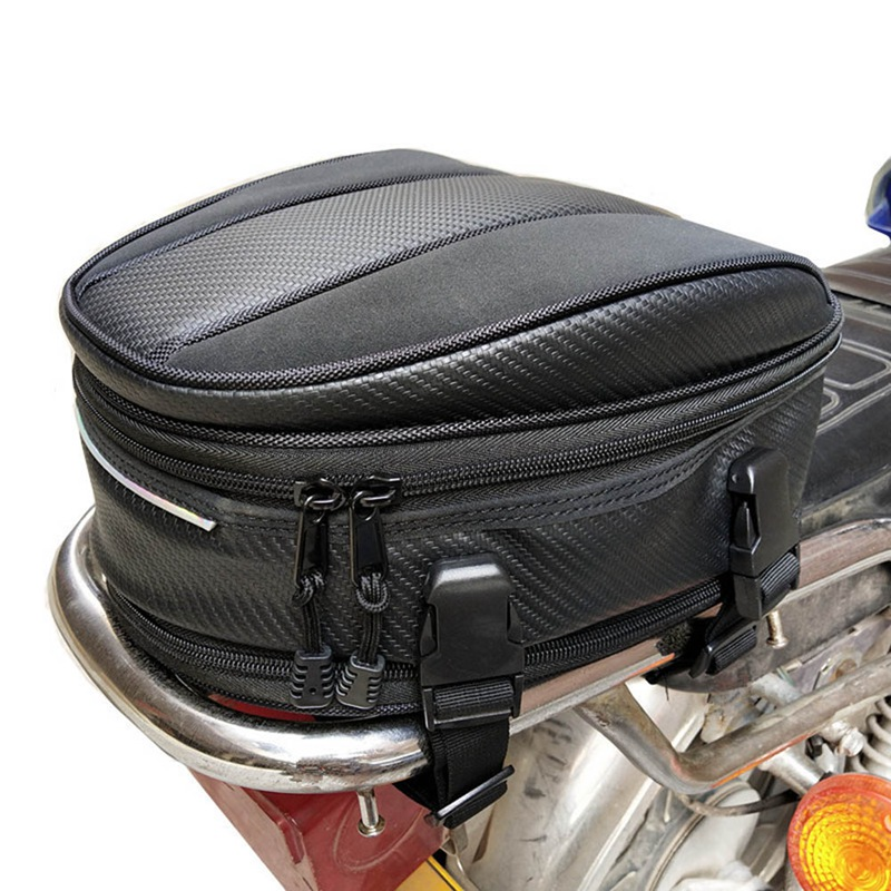 New Motorcycle Tail Bags Back Seat Bags Kit Travel Bag Motorbike Scooter Sport Luggage Rear Seat Rider Bag Pack Pocket Bag