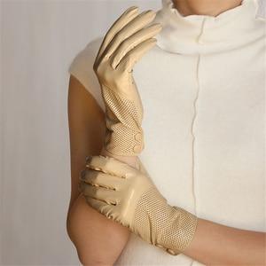 Image 3 - Special Offer 2020 Sale Dark Red Women Gloves Fashion Genuine Leather Warm Wrist Winter Sheepskin Glove Free Shipping L090NN