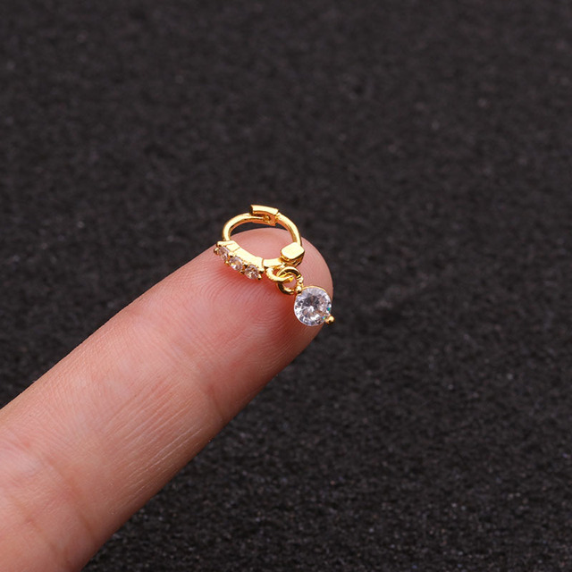 1 Piece New Yellow Rose Gold Color Tiny Hoop Earring Cz Tragus Daith Rook Cartilage Ear.jpg 640x640 - 1 Piece New Yellow Rose Gold Color Tiny Hoop Earring Cz Tragus Daith Rook Cartilage Ear Piercing Jewelry