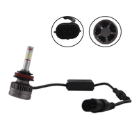 white car SHUOKE H8 H9 H11 LED Car Headlight LED H8 H9 H111 Auto Lamps 12V 6000K Cold White Light Automobiles Bulb with Canbus Fans (1)