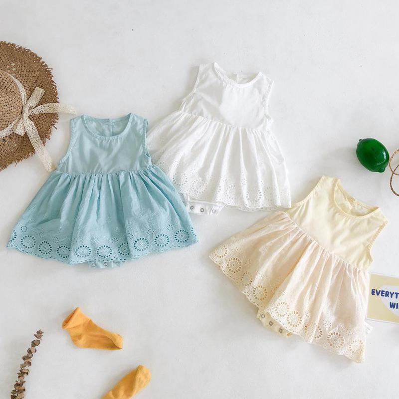 Baby Clothes Girl Dress For 0-24M Baby Summer Clothes Newborn  Cotton Sleeveless Bodysuit Jumpsuit Kids Girls Clothing