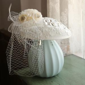 Mingli Tengda, Свадебная вечеринка, официальная шляпа, Cambric, банкет, маленькие, официальные шапки, женские качественные, грациозные, с бисером, круж...