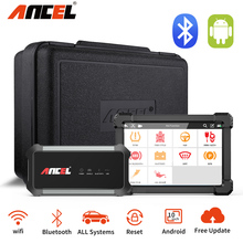ANCEL X7 cały System skaner OBD2 IMMO DPF SAS ABS Reset oleju skaner samochodowy wielojęzyczny profesjonalny samochód diagnostyczny bezpłatna aktualizacja tanie tanio CN (pochodzenie) ANCEL X7 OBD2 Scanner 12cm 24cm Plastic Poduszka powietrzna skanowania narzędzia i symulatory Bluetooth