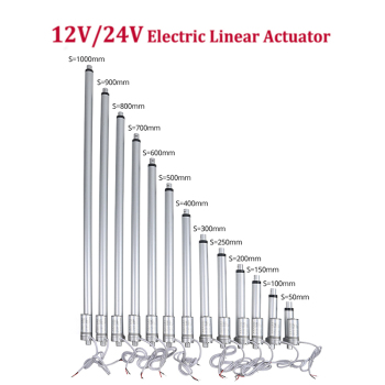 12V/24V Electric Linear Actuator 300mm 400mm 500mm Stroke Linear Gear Motor Window Door Open 1000/700/500/300/230/180/100N linear guide rails 500mm x 500mm working area xy linear stage for 3d printer