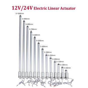 12V 24V elektryczny siłownik liniowy 300mm 400mm 500mm skoku liniowy motoreduktor okno drzwi otwarte 1000 700 500 300 230 180 100N tanie i dobre opinie CN (pochodzenie) 1~2A Szczotka actuator linear Kroploszczelny 1000N MAX Z magnesem trwałym DO ŁODZI SAMOCHÓD Rower elektryczny