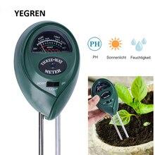 цена на 3 in 1 Soil Test Instrument PH Tester Flowers Planting Soil Hygrometer Moisture Tester Sunlight Detector Tool