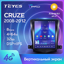 TEYES TPRO para Chevrolet Cruze J300 2009-2014 auto Radio Multimedia reproductor de Video GPS de navegación Android 8,1 No 2din 2 din dvd(China)