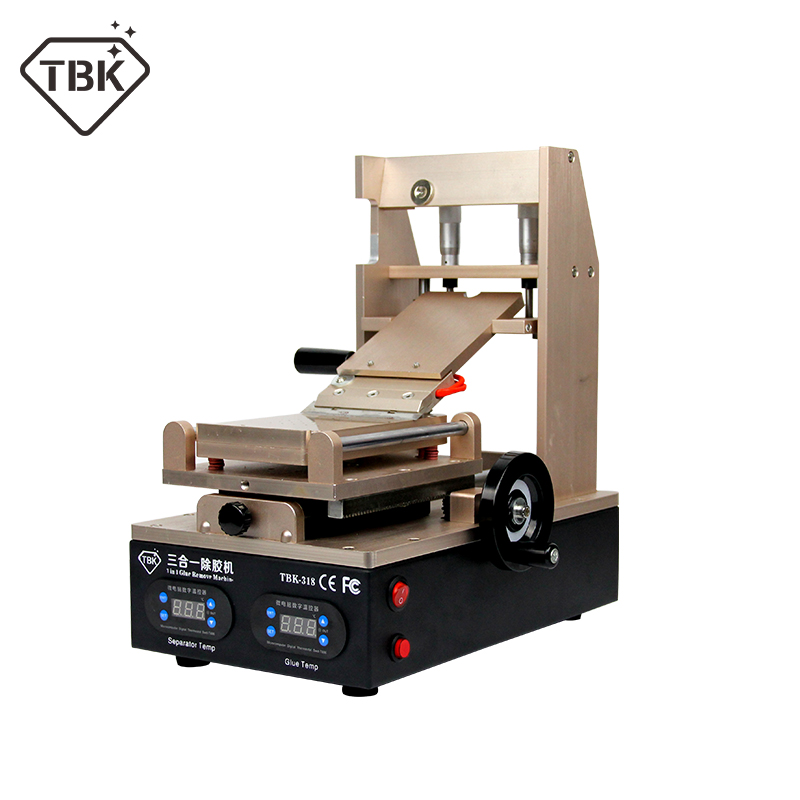 TBK-318 3 In 1 Vacuum LCD Screen Separator + Preheater +OCA Glue Polarizer Remover Mobile Phone LCD Screen Refurbish Machine
