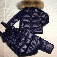 Real raccoon fur 2019 winter jacket child suit jacket+pant t