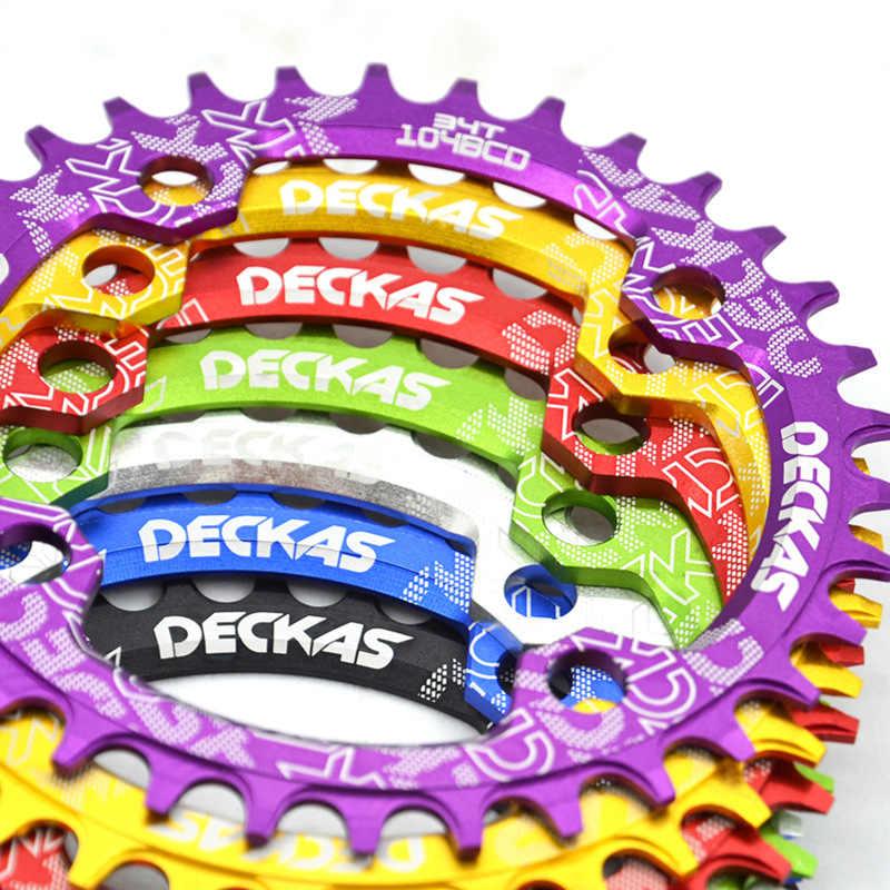 Deckas 104BCD オーバル狭いワイド Mtb マウンテン自転車 32T 34T 36T 38T クラウンクランクセット単一の歯プレート部品 104 BCD