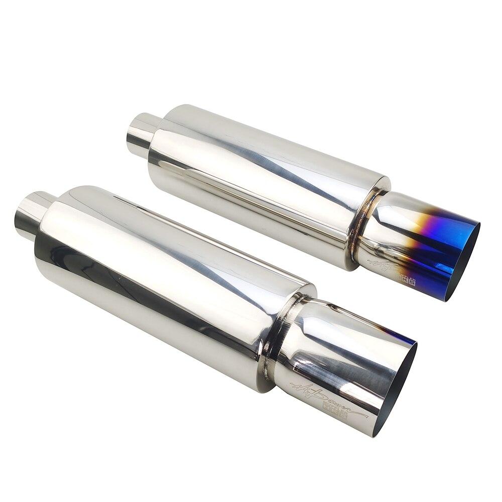 자동차 배기 파이프 머플러 테일 유니버설 고품질 스테인레스 스틸 배기 시스템 레이싱 머플러 2.5